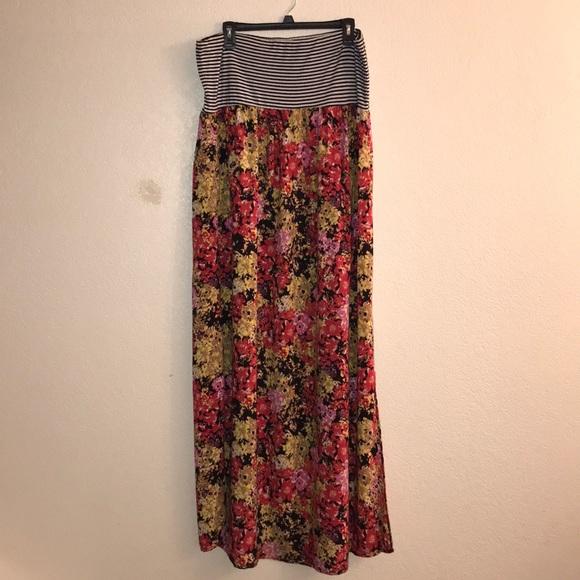 Plus size 2X tube top dress slits on both sides